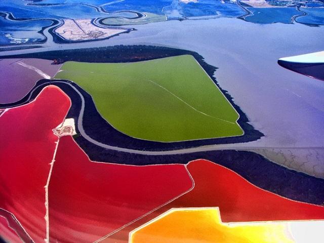 Rực rỡ sắc màu cánh đồng muối của San Francisco